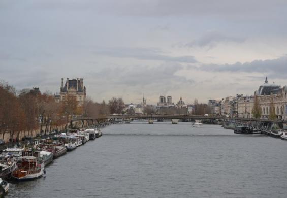 вид с моста на Париж