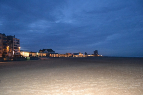Набережная Остенде ночью