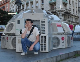 Иглу в центре Белграда